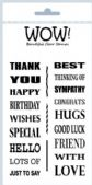 WOW! - Clear Stamp Set - Mr Wows Wonderful Words (by Mr Wow) - STAMPSET38